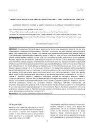 increase in resistance among uropathogens e. coli to empirical ...