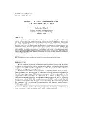 optimally tuned pid-controllers for distubance rejection - Sudan ...