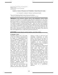 The sensitivity analysis used in the probabilistic seismic hazard ...