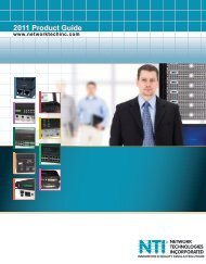 PDF Catalog - NTI® - Network Technologies Incorporated