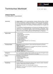 Technisches Merkblatt - Bosshard Farben