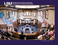 Annual Report 2010 – 2011 - Louisiana State University