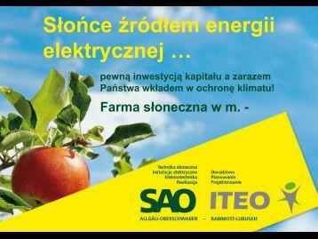 Opis farmy słonecznej w m. - Iteo