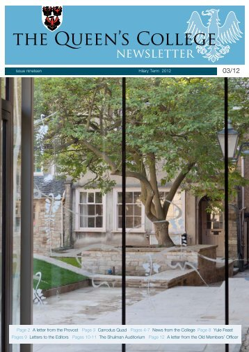 issue 19 - The Queen's College