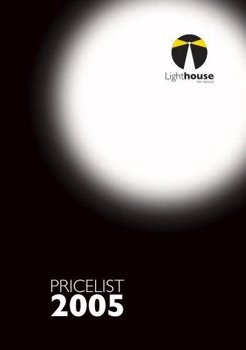 Download Price List (pdf.) - LightHouse Film Service Co.,Ltd.