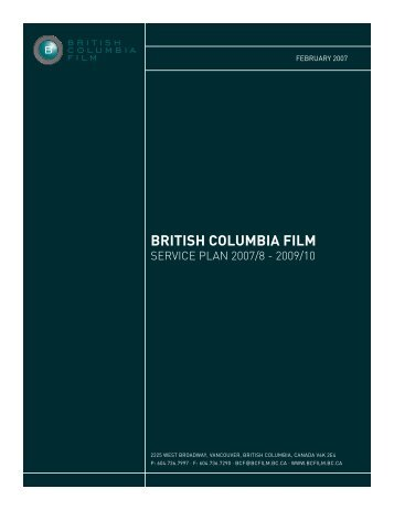 BC Film + Media Service Plan (February 2007) - BCFM