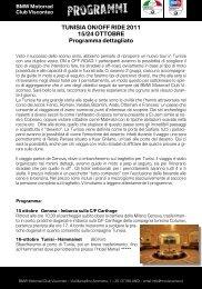 PDF PROGRAMMA TUNISIA 2011