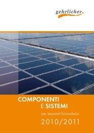 Componenti e sistemi - Gehrlicher Solar