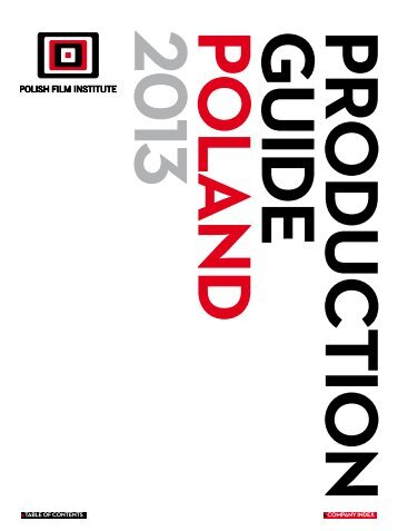 producTion guide poland 2013