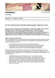 Die 18. Lesbisch Schwulen Filmtage Hamburg gingen erfolgreich zu ...