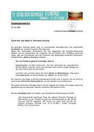 Gewinner des Made in Germany-Awards - Lesbisch Schwule ...