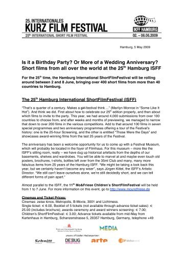 Short films from all over the world at the 25th Hamburg ISFF