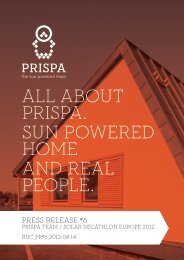 about prispa. sun powered home and real - Solar Decathlon Europe