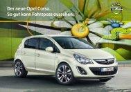 Prospekt Opel Corsa - Garage im Steiger AG