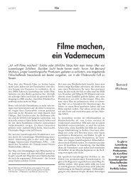 Filme machen, ein Vademecum - Forum