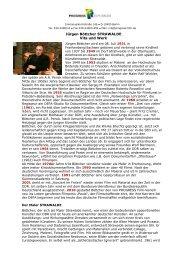 Bio- und Filmografie (PDF 179 KB) - PROGRESS Film-Verleih