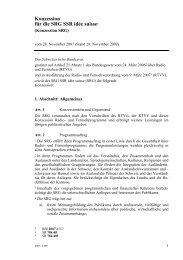 Konzession für die SRG SSR idée suisse1