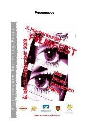 Presse-Mappe 2009 - Hachenburger Filmfest