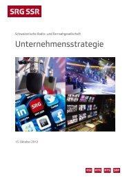 Unternehmensstrategie - SRG SSR