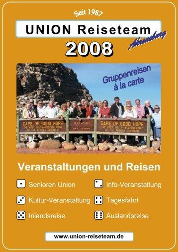 Katalog 2008 - UNION Reiseteam Ahrensburg
