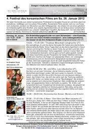 4. Festival des koreanischen Films am Sa. 28. Januar 2012