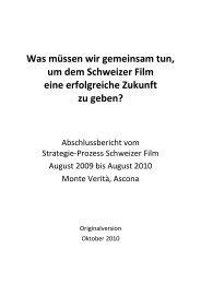 Was müssen wir gemeinsam tun, um dem Schweizer ... - SRG SSR