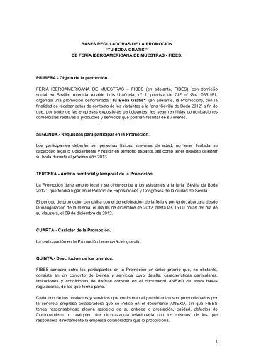 Bases reguladoras sorteo Sevilla de Boda