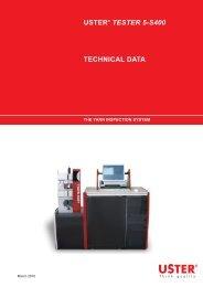 USTER® TESTER 5-S400 TECHNICAL DATA - Uster Technologies