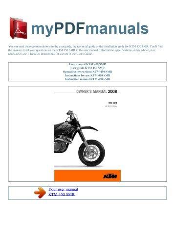 user manual ktm 520 exc racing my pdf manuals rh yumpu com ktm rc8 user manual ktm user manual download