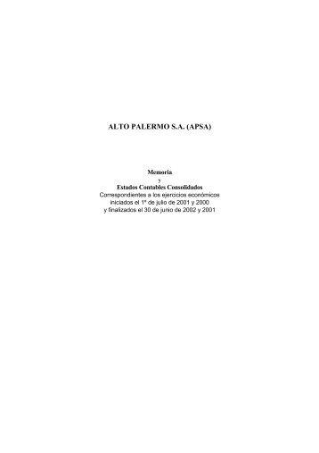 ALTO PALERMO S.A. (APSA)