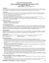 Visual Arts Rules and Guidelines (page 1 of 2l
