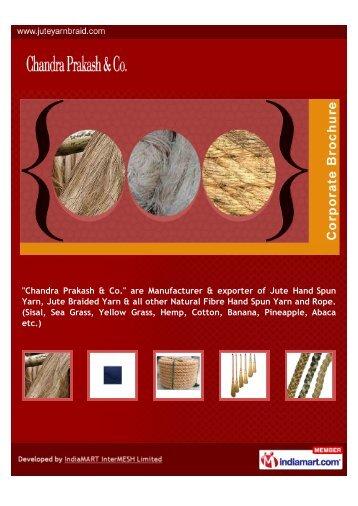 are Manufacturer & exporter of Jute Hand Spun Yarn, Jute Braided ...