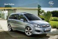 Prospekt Opel Zafira - Garage im Steiger AG