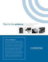 Fiber to the antenna - Corning Incorporated