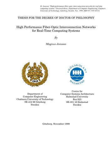 High Performance Fiber-Optic Interconnection Networks for ... - DiVA