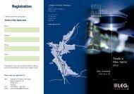 Trends in Fiber Optics 2012 - IPHT Jena