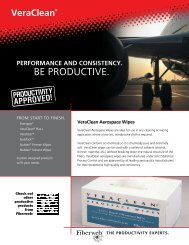 Download VeraClean Sell Sheet - Fiberweb Graphic Arts Products