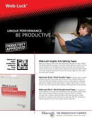 Download Web-Lock Sell Sheet - Fiberweb Graphic Arts Products