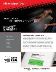 Download KleanWipes DW Sell Sheet - Fiberweb Graphic Arts ...