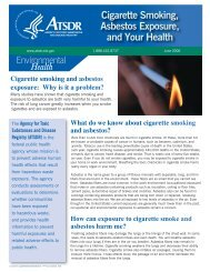 Cigarette Smoking & Asbestos Exposure - Agency for Toxic ...