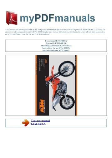 user manual ktm 520 exc racing my pdf manuals rh yumpu com ktm rc8 user manual ktm user manual 2018 450