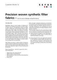Precision woven synthetic filter fabrics - SEFAR