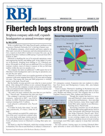 Fibertech logs strong growth - Fibertech Networks