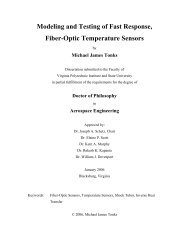 Modeling and Testing of Fast Response, Fiber-Optic ... - Virginia Tech