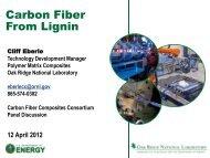 Carbon Fiber From Lignin - Oak Ridge Carbon Fiber Composites ...
