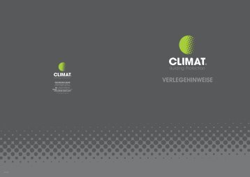 Verlegehinweise - Climat
