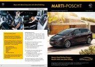 Neuer Opel Zafira Tourer - Garage Marti AG