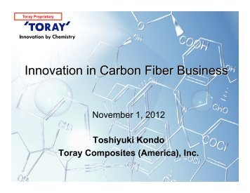 Innovation in Carbon Fiber Business - US-Japan Technology ...
