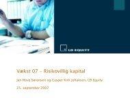 SFK-Systems A/S Indstilling til LDE2 ... - BrainsBusiness