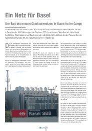 BAULIFE 03/09 Ein Netz für Basel - Swissfibertech